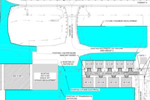 Drawing of hangar sites